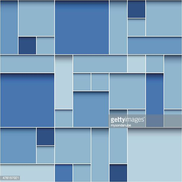 modern blue boxes background
