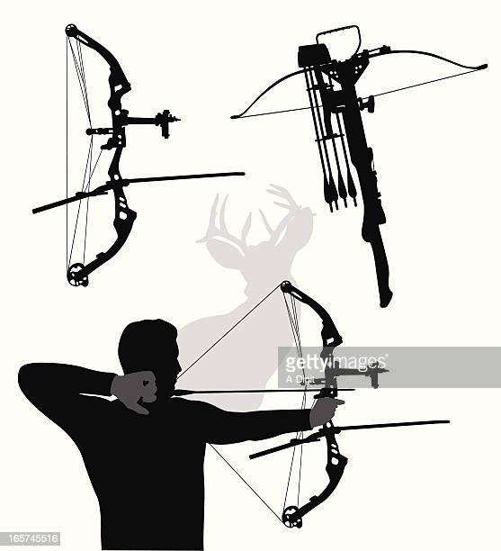 Modern Bows Vector Silhouette