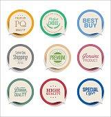 Modern bubble speech sticker collection