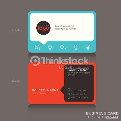 Modern Business Card Design Template Vector Art Thinkstock