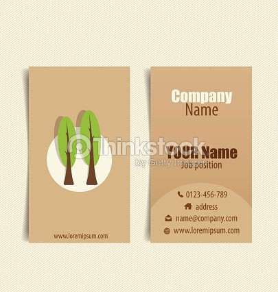 Modern business card template with nature background vector ill modern business card template with nature background vector ill vector art reheart Gallery