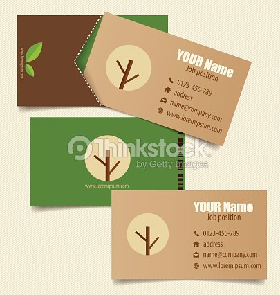 Modern business card template with nature background vector ill modern business card template with nature background vector ill vector art reheart Images
