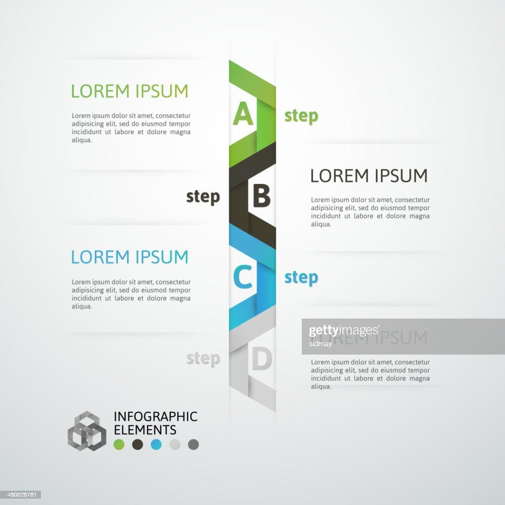 Étape affaires moderne origami style options bannière : Clipart vectoriel