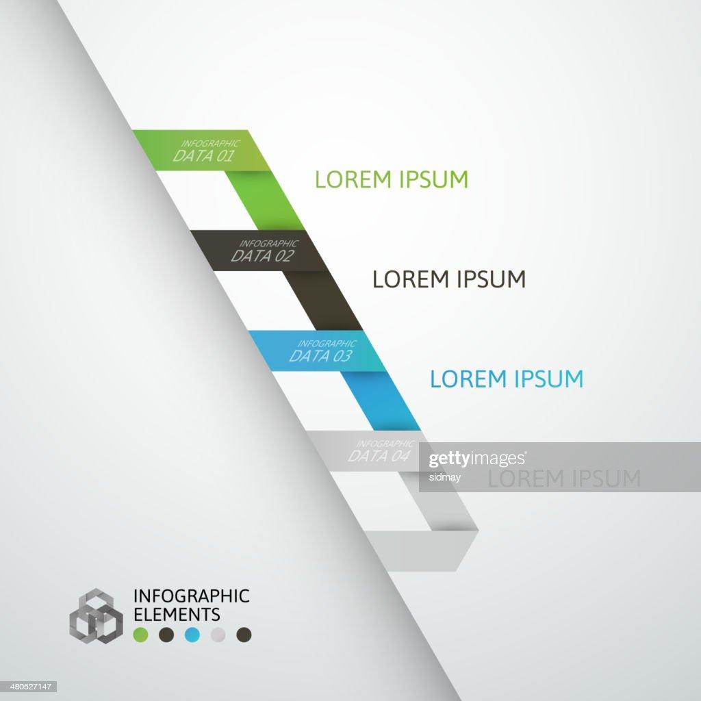 Modern business step origami style options banner : Vektorgrafik