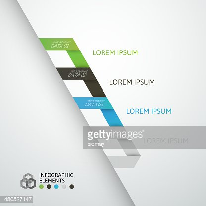 Modern business step origami style options banner : Vectorkunst
