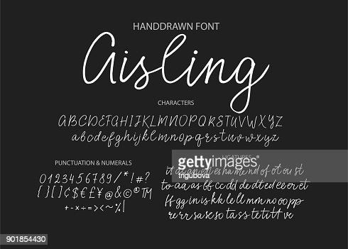 Modern calligraphic font. Brush painted letters : stock vector