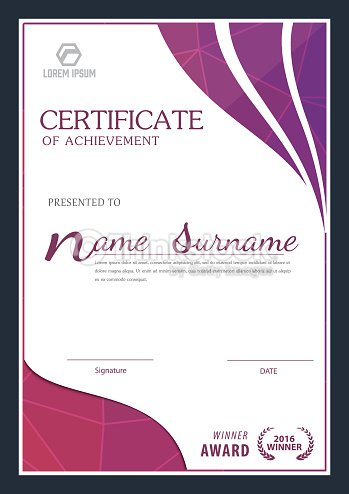 modern certificate template diploma layout vector art - Modern Certificate Template
