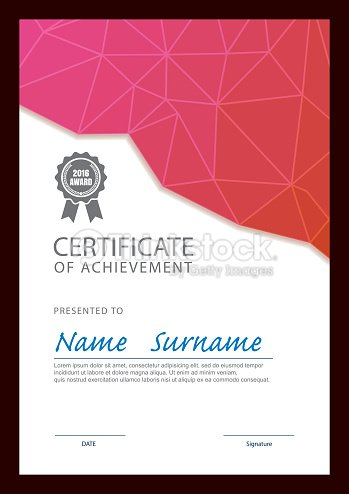 Modern Certificate Template Diploma Layout Vector Art Thinkstock