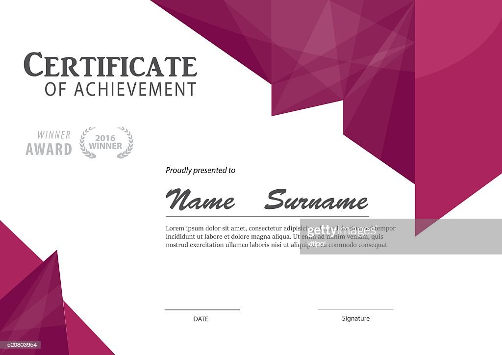Modern Certificate Template ,diploma Layout : Vector Art  Certificate Layout