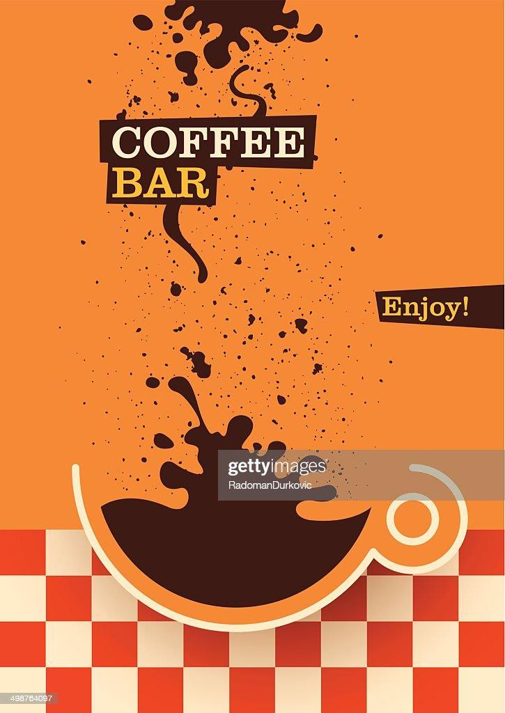 Modern coffee bar poster design vector art getty images for Modern coffee bar design