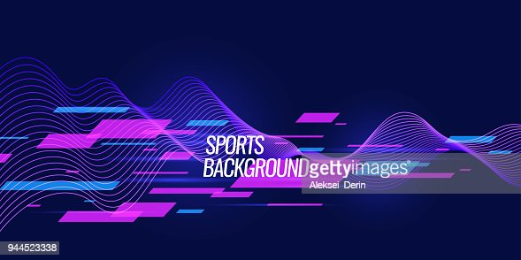 Modern colored poster for sports : Vector Art