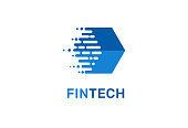 Modern  concept design for fintech and digital finance technologies