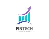 Modern  concept design for fintech and digital finance technologies