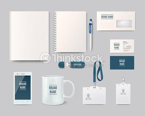 Modern Corporate Identity Template Design Vector Illustration ...