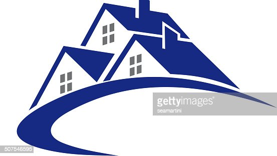 Modern cottage or house symbol vector art getty images for House music symbol