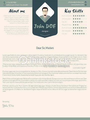 Modern Cover Letter Design With Details