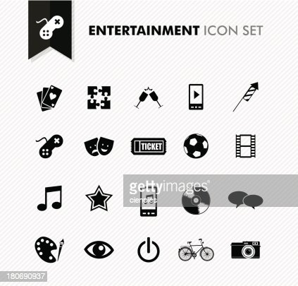 Modern entertainment leisure and fun icon set. : Vector Art
