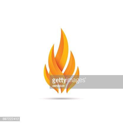 Modern fire icon : Arte vectorial