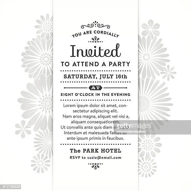 Modernes Blumenmuster-Party-Einladung