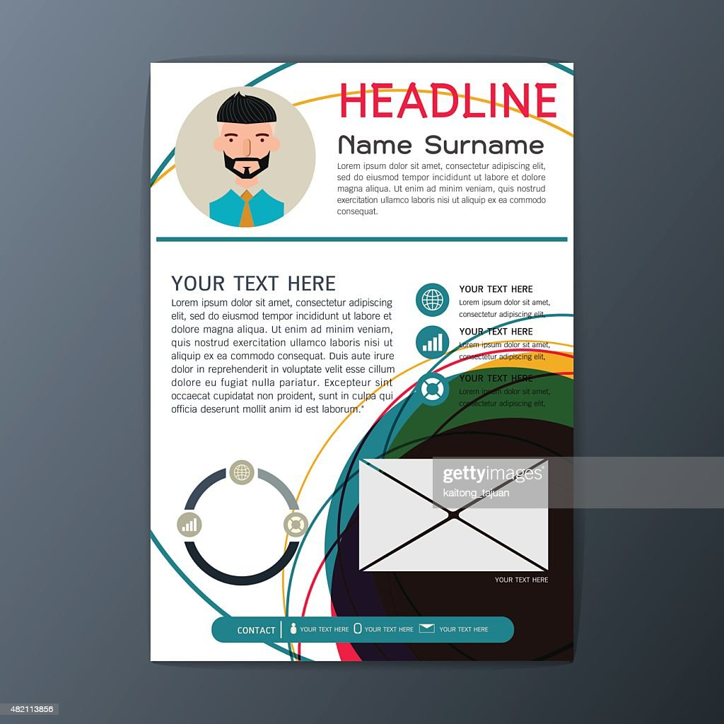 modern flyer design magazine brochure business resume abstract