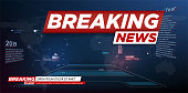 Modern futuristic template for news on background. Digital data visualization. Business technology concept. Banner breaking news, important news