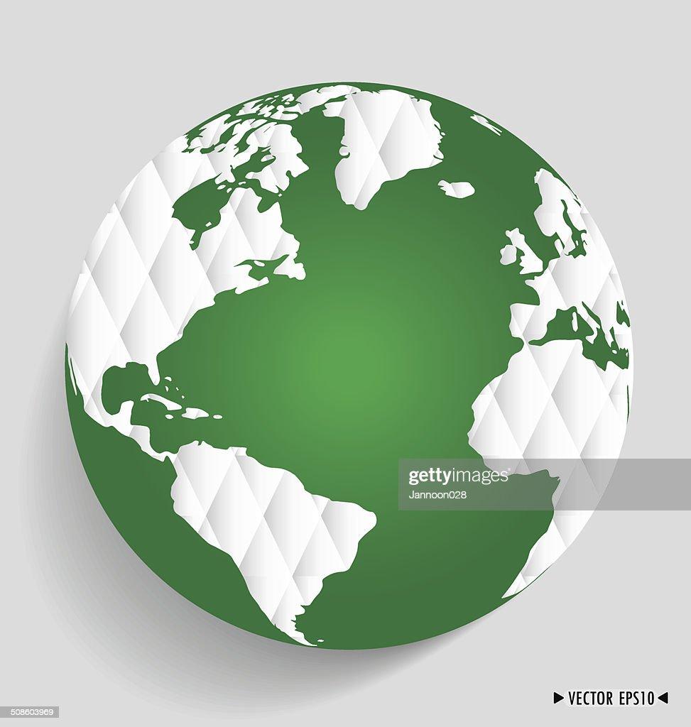 Modern globe. Vector illustration. : Vector Art