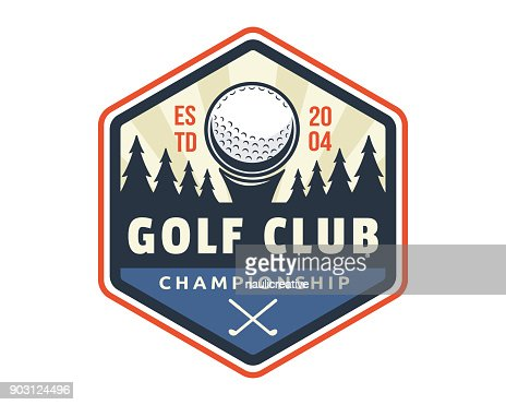 Modern Golf Badge Emblem Illustration : stock vector