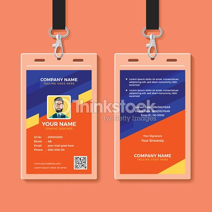 modern graphic id card design template vector art thinkstock