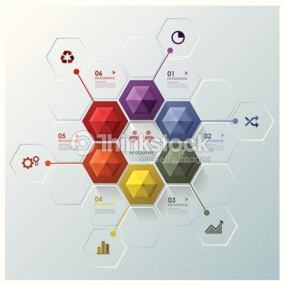 Moderne Sechseck Businessinfografik Designvorlage Vektorgrafik ...