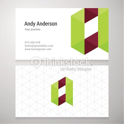 Modern Letter A Origami Business Card Template Vector Art Thinkstock