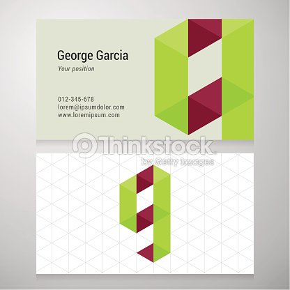 Modern Letter G Origami Business Card Template Vector Art Thinkstock