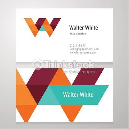 modern letter w business card template vector art thinkstock