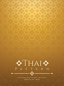 modern line Thai pattern traditional concept The Arts of Thailand.
