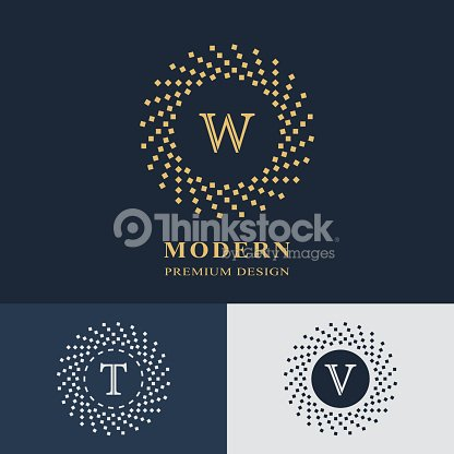 Modern logo design geometric linear monogram template letter emblem modern logo design geometric linear monogram template letter emblem w t v mark of distinction universal business sign for brand name company reheart Gallery