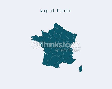 Map Of France With States.Modern Map France With Federal States Stock Vector Thinkstock
