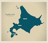 Modern Map - Hokkaido JP