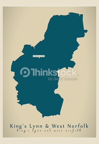 Map Of England Norfolk.Modern Map Kings Lynn And West Norfolk District Of Norfolk England