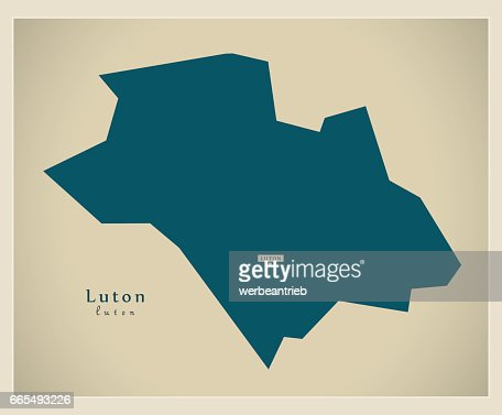 Luton England Map.Modern Map Luton Unitary Authority England Uk Vector Art Thinkstock