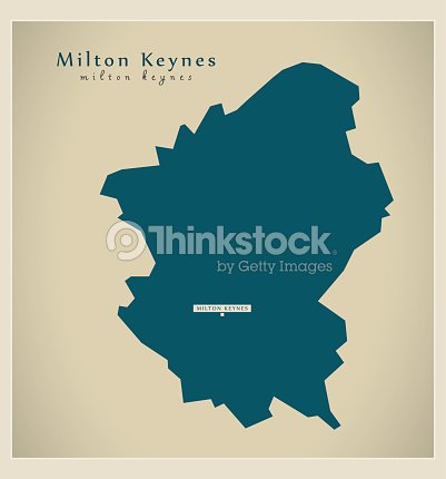 Map Of England Milton.Modern Map Milton Keynes Unitary Authority England Uk Vector Art