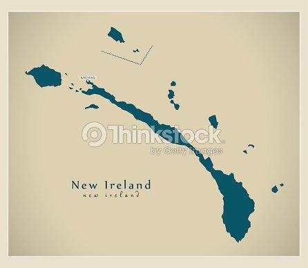 Modern Map New Ireland Pg Vector Art Thinkstock