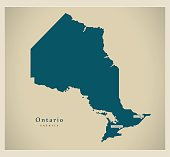 Modern Map - Ontario CA