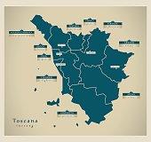 Modern Map - Toscana IT
