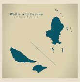 Modern Map - Wallis and Futuna WF