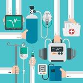 Modern medical therapy flat design.Vector illustration