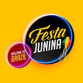 modern festa junina stylish banner design