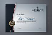 modern premium certificate award design template eps10