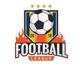 Professional Modern Soccer League Badge Illustration