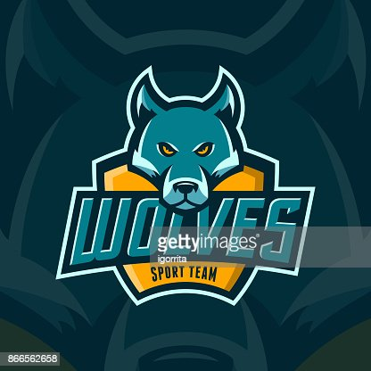 modern professional wolves team sport emblem : stock vector