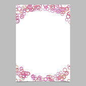 Modern random circle pattern page background template - vector blank brochure frame graphic design with pink toned rings