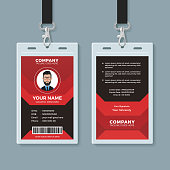 Creative employee identity card design